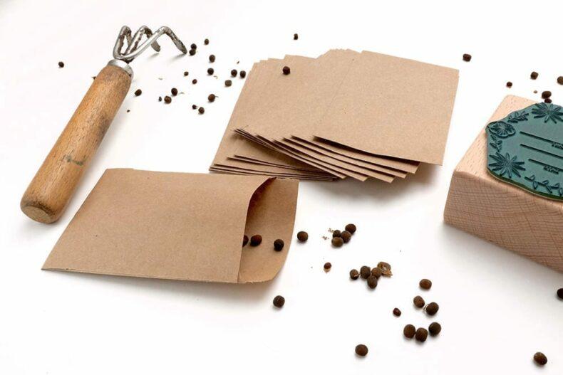 Samentueten aus Kraftpapier, Umschlaege fuer Saatgut | STUDIO KARAMELO