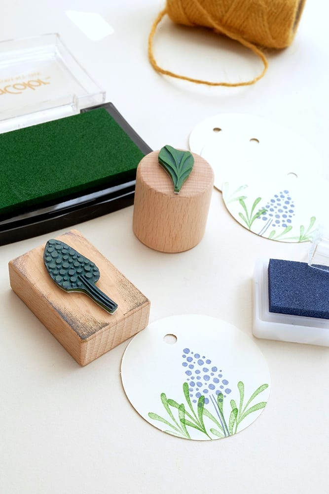 Stempel Hyazinthe Ministempel Frühling   rubber stamp hyacinth   STUDIO KARAMELO