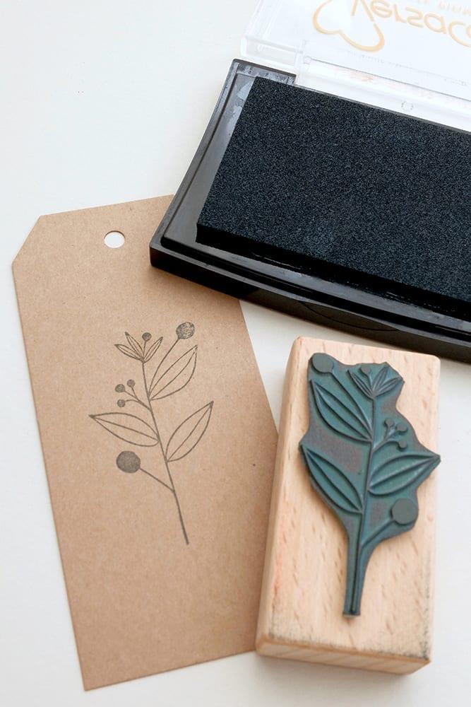 Stempel Zweig, Pflanze mit Beeren || STUDIO KARAMELO | rubber stamp plant & berries