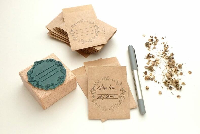 Stempel Samentuetchen, Samentueten || STUDIO KARAMELO | rubber stamp Seed Packet