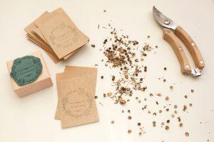 Stempel Samentuetchen, Samentueten    STUDIO KARAMELO   rubber stamp Seed Packet