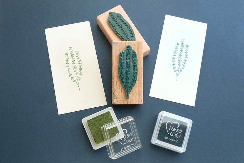 Stempel kleine Alge, Seegras || STUDIO KARAMELO | rubber stamp seaweed