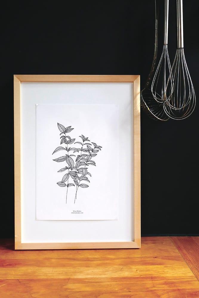 Botanischer Druck MINZE Urban Jungle Print | STUDIO KARAMELO
