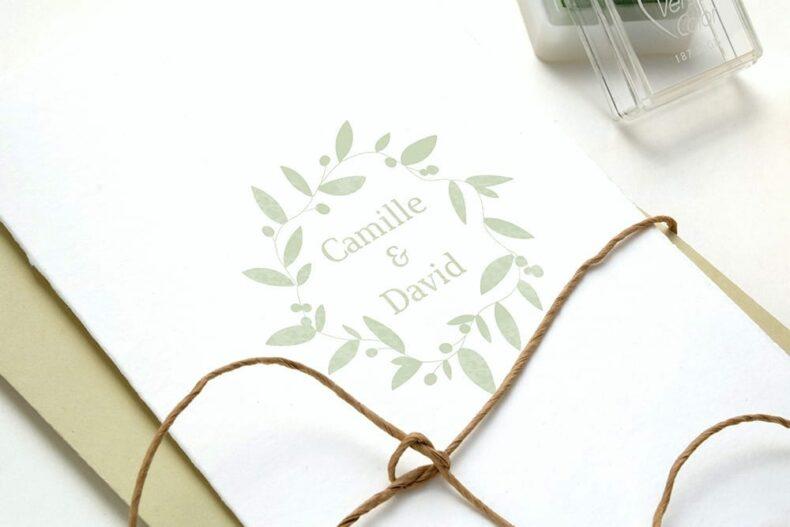 Hochzeitsstempel , Namensstempel von STUDIO KARAMELO