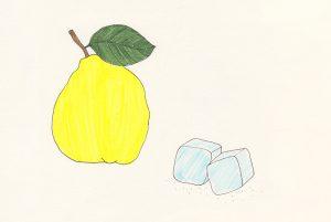 Quitte Illustration Sommerdrink alkoholfreier Sekt | STUDIO KARAMELO