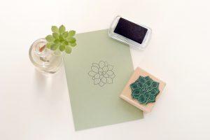 Stempel Sukkulente Holzstempel Pflanze | STUDIO KARAMELO