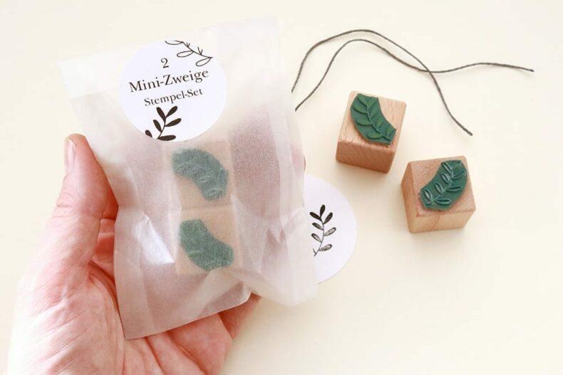 Mini-Stempel Set Zweige, florale Stempel, Holzstempel | STUDIO KARAMELO