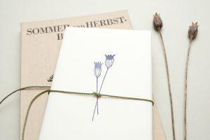Stempel Kornblume Mohn, Holzstempel, botanischer Stempel | STUDIO KARAMELO