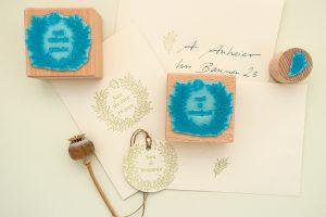 Hochzeitsstempel Liguster Kranz, Stempel für Hochzeitseinladung | STUDIO KARAMELO