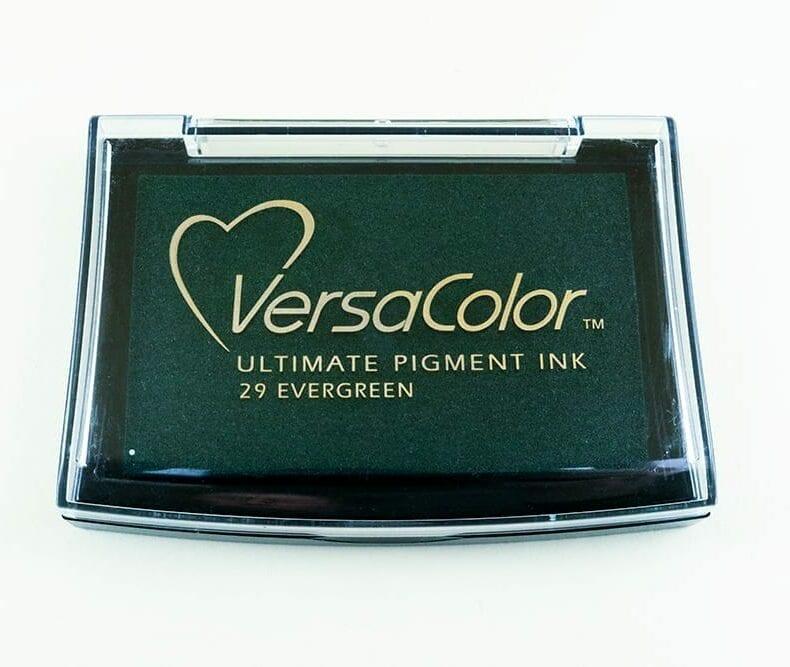Stempelkissen Evergreen, Immergrün, Versacolor