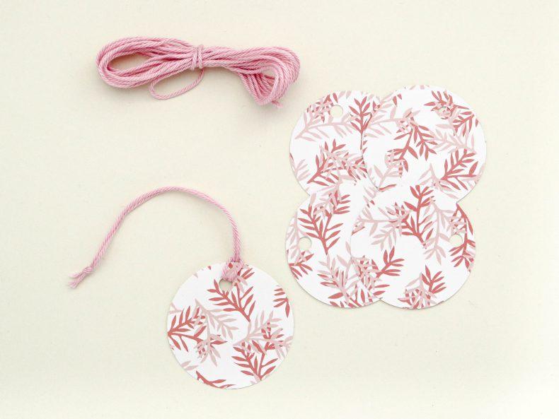 Florale Geschenkanhänger aus Recyclingpapier, rose | STUDIO KARAMELO