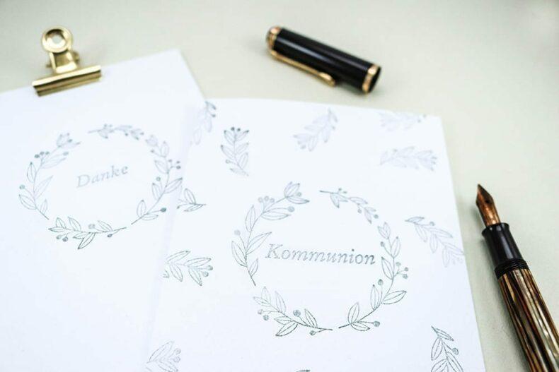 Kommunion Stempel Einladung | STUDIO KARAMELO
