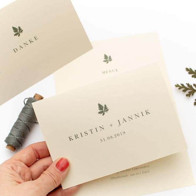 GERANIUM – umweltfreundliche Hochzeitspapeterie
