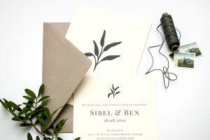 Solidago – Hochzeitseinladung, umweltfreundliche Hochzeitspapeterie, Recyclingpapier   STUDIO KARAMELO