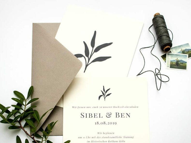 Solidago – Hochzeitseinladung, umweltfreundliche Hochzeitspapeterie, Recyclingpapier | STUDIO KARAMELO