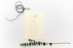 Florale Hochzeitseinladung JASMIN – Hochzeitspapeterie Recyclingpapier