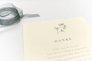 Florale Danksagung JASMIN – Hochzeitspapeterie Recyclingpapier