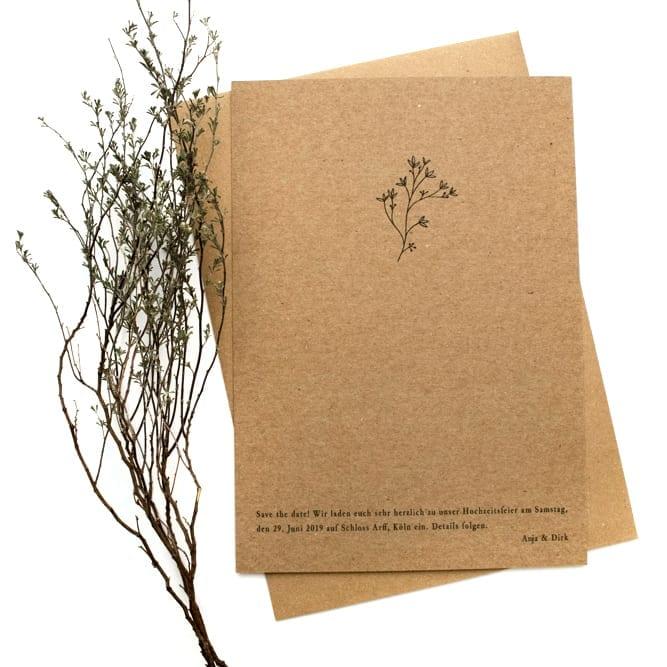 THYMIAN – umweltfreundliche Hochzeitspapeterie auf Kraftpapier