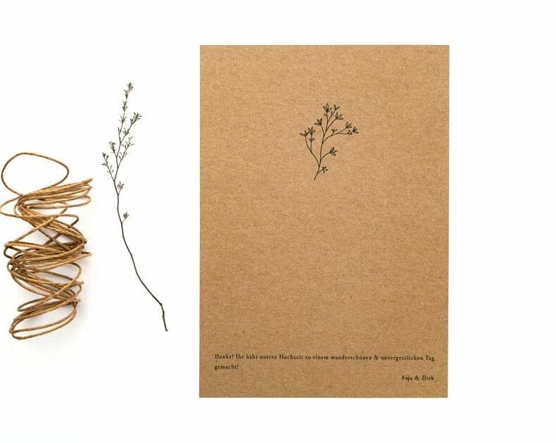 Thymian – Umweltfreundliche Hochzeitspapeterie mit floralem Zweig