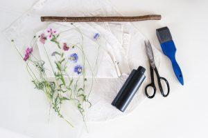 print Wallhanging Blaudruck DIY gepresste Pflanzen | STUDIO KARAMELO