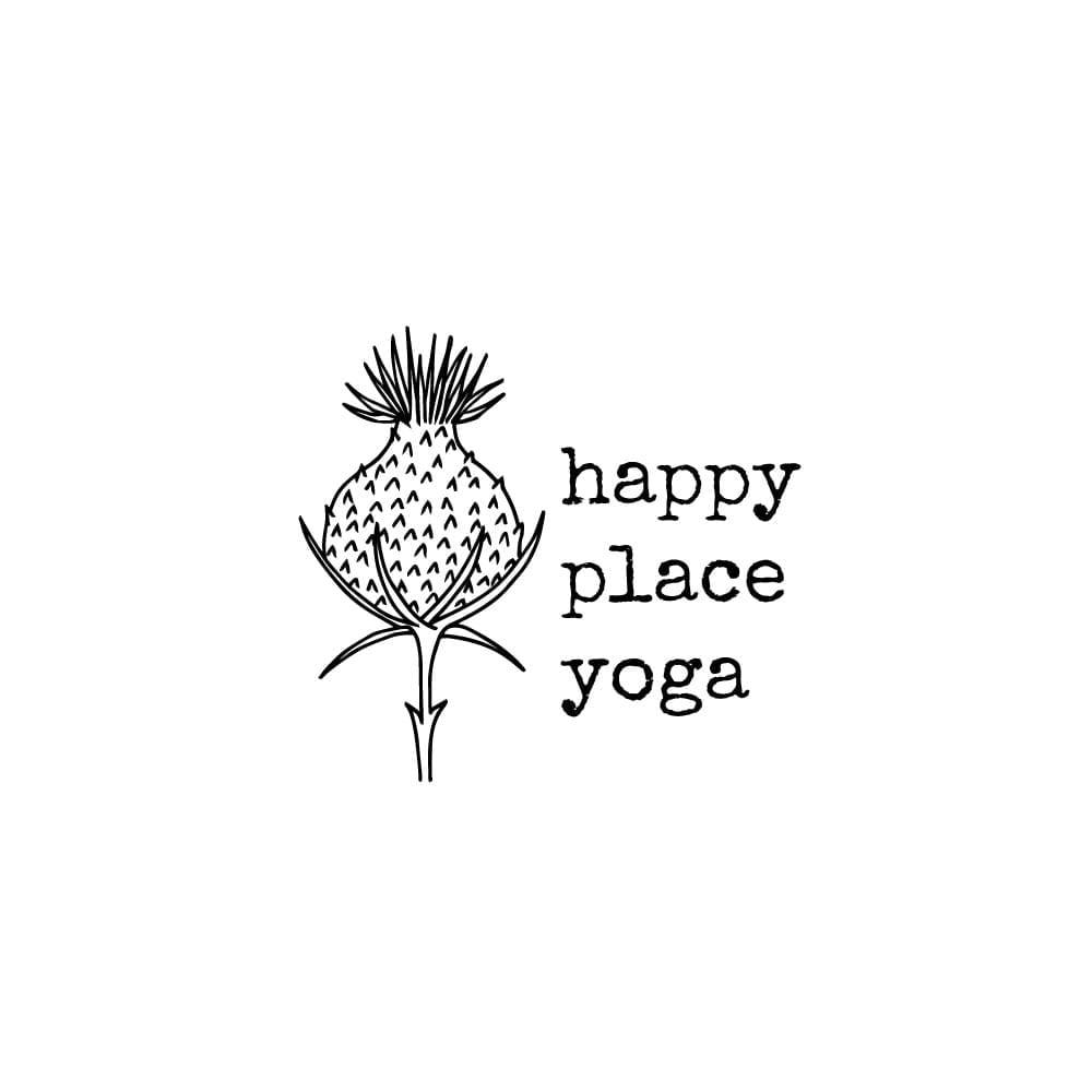 botanisches Branding Logo Yogastudio happyplaceyoga   STUDIO KARAMELO
