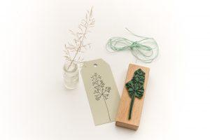 Holzstempel Straußgras, Gräser, Pflanzenstempel, floraler Stempel   STUDIO KARAMELO
