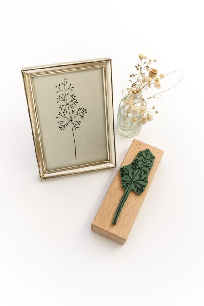 Holzstempel Straußgras, Gräser, Pflanzenstempel, floraler Stempel | STUDIO KARAMELO