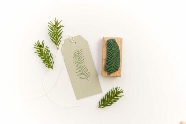 Stempel Tannenzweig, Weihnachtsstempel, floraler Stempel | STUDIO KARAMELO