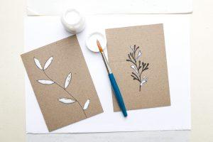Glamouröse Weihnachtskarten mit Blattgold DIY