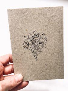Osterkarte, Postkarte Ostern mit Blumen | STUDIO KARAMELO