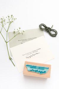 Adressstempel für Hochzeitseinladungen, Adressstempel mit Zweig   STUDIO KARAMELO