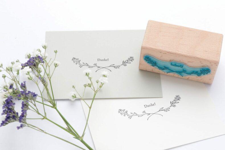 Danke-Stempel, Hochzeitsstempel mit Zweig | STUDIO KARAMELO