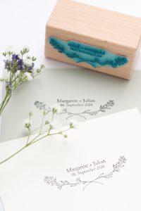 Hochzeitsstempel mit Name, Datum + Zweig   STUDIO KARAMELO