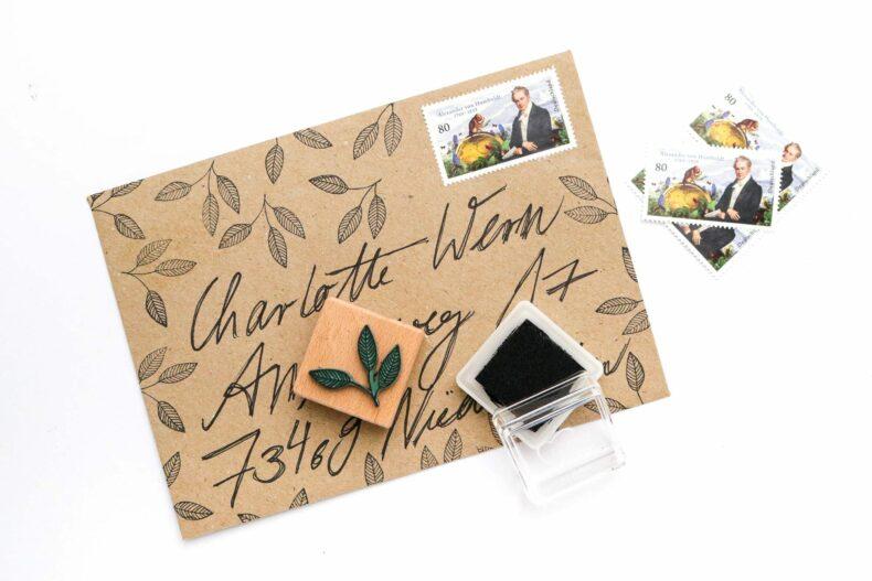 Holzstempel Buchenblatt, Umweltfreundlicher Stempel mit Blatt | STUDIO KARAMELO