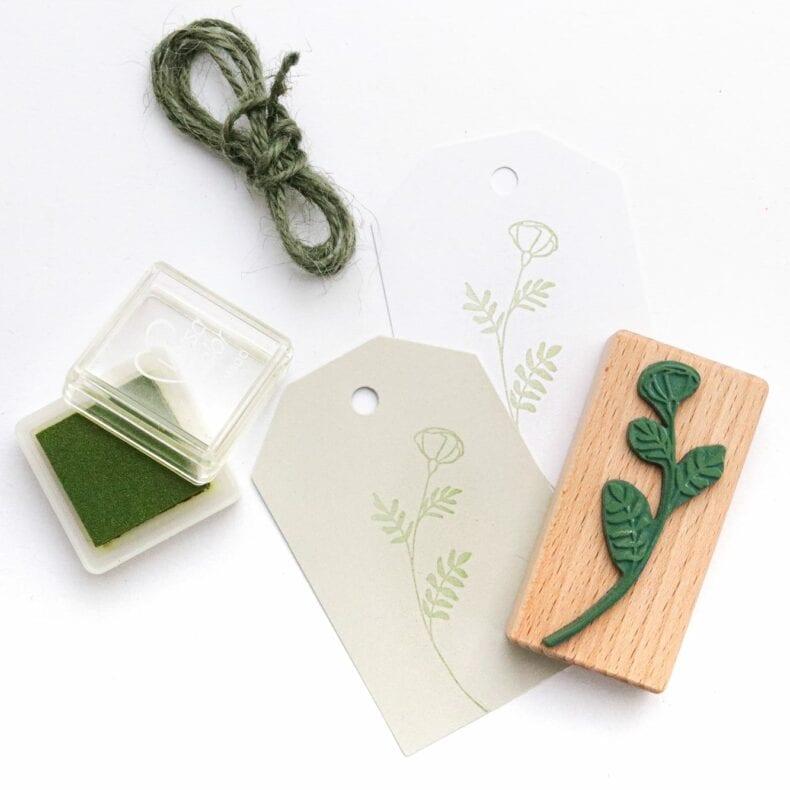 Stempel Klatschmohn Mohn, Umweltfreundlicher Holzstempel mit Pflanzenmotiv
