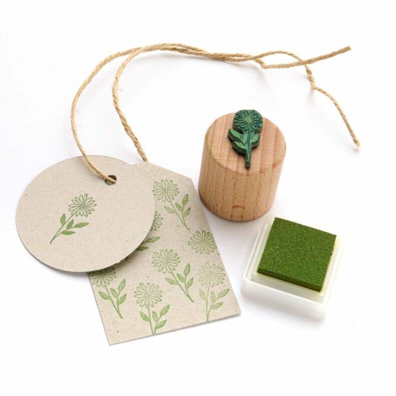 Mini-Stempel Blümchen Holzstempel Blume | STUDIO KARAMELO