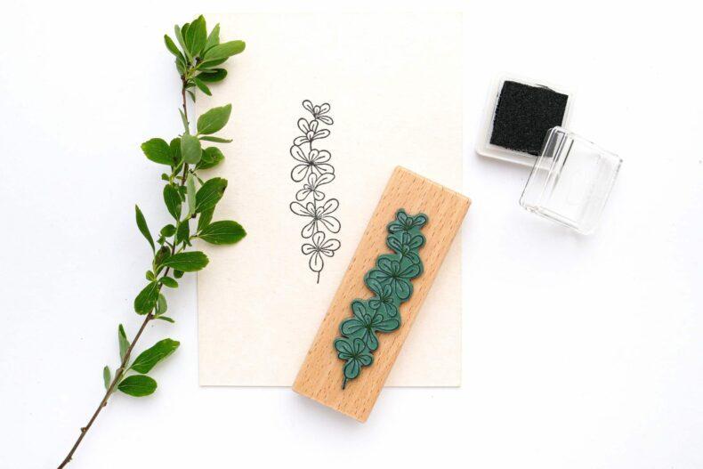 Stempel Pfennigkraut, Pflanzenstempel | STUDIO KARAMELO