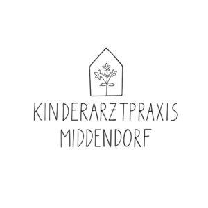 Logo Kinderarztpraxis handgezeichnet floral