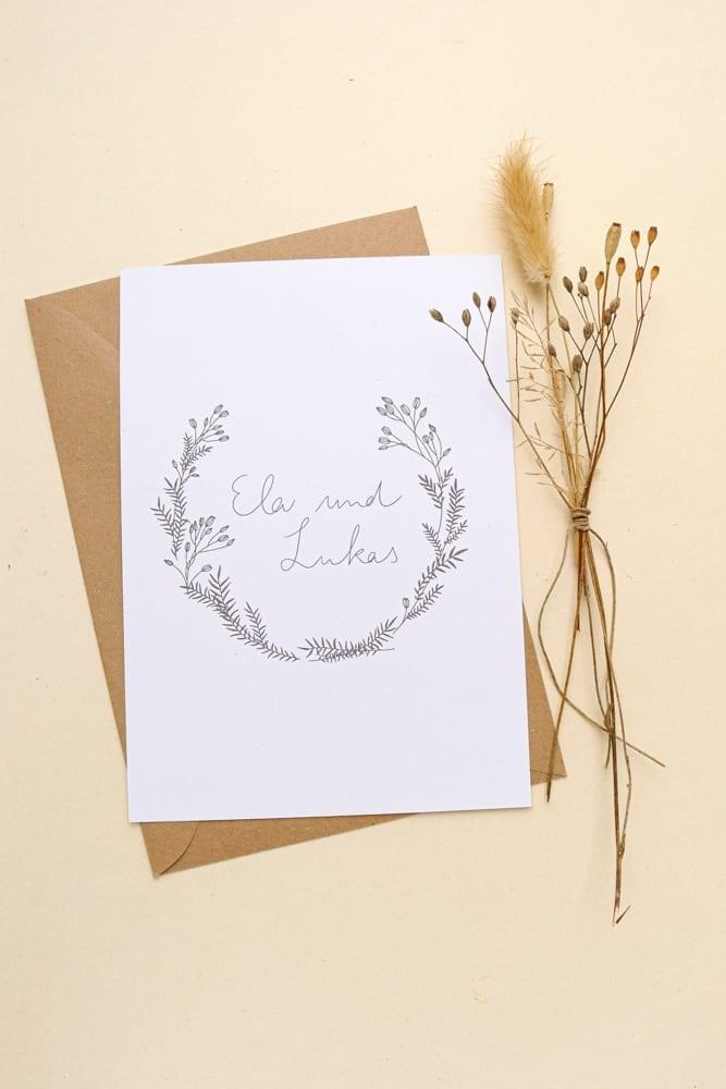 LAPSANA – florale Hochzeitspapeterie