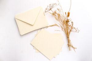 Kartenset Recycling Feinpapier biscuit