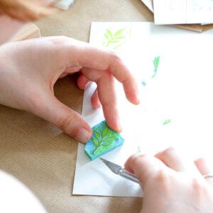 DIY Workshop für Junggesellinnenabschied Stempel Workshop in Köln