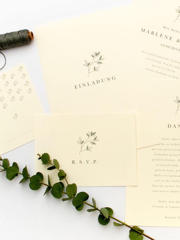 JASMIN – florale & umweltfreundliche Hochzeitspapeterie