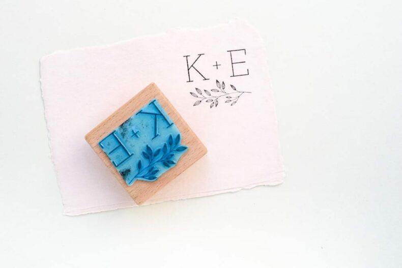 Monogramm-Stempel SALIX Hochzeitsstempel mit Initialen