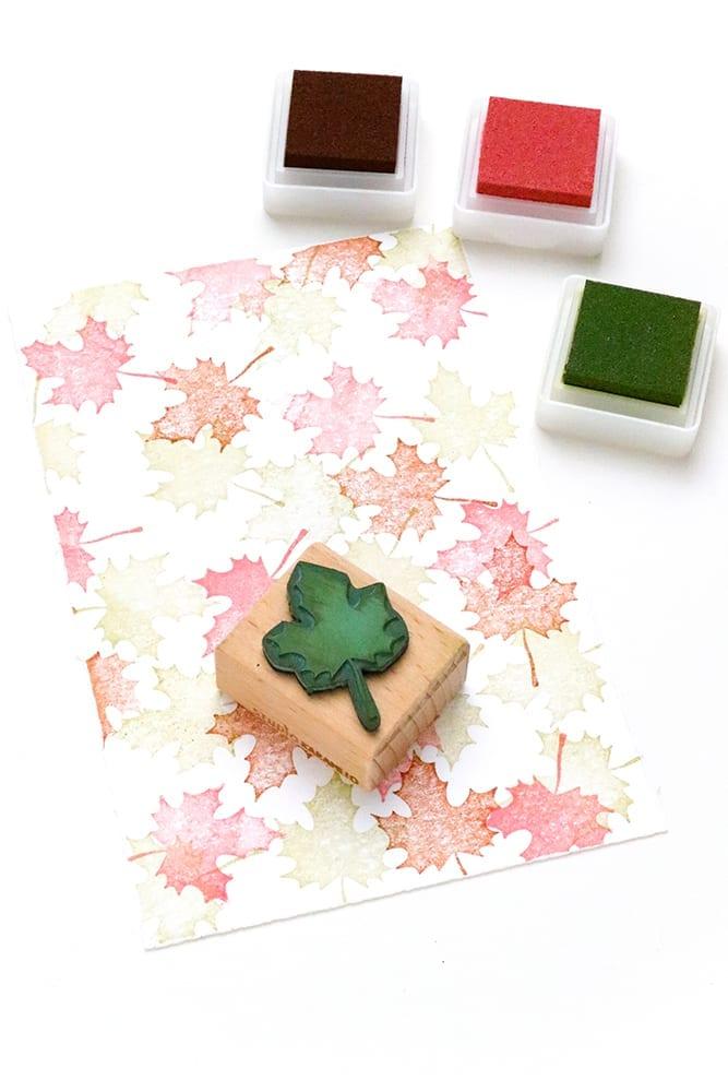 Mini Stempelkissen von VersaColor in rosa, grün und braun