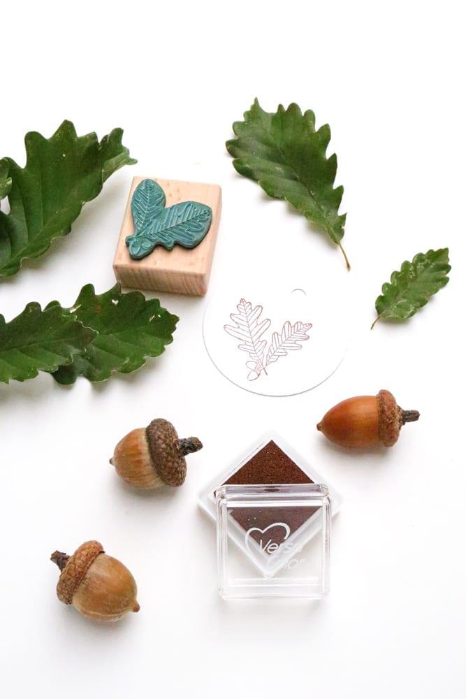 Stempel Eichenblatt Mini-Stempel Laub