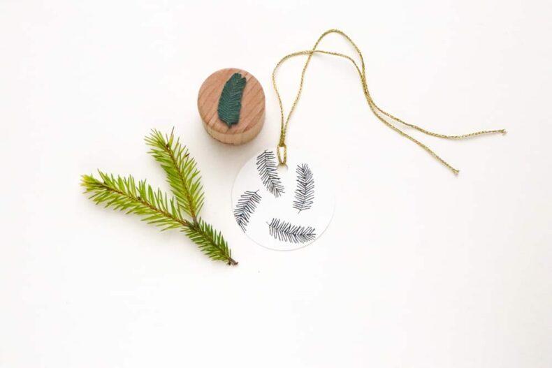Mini Stempel Tannenzweig für deine Weihnachtspost