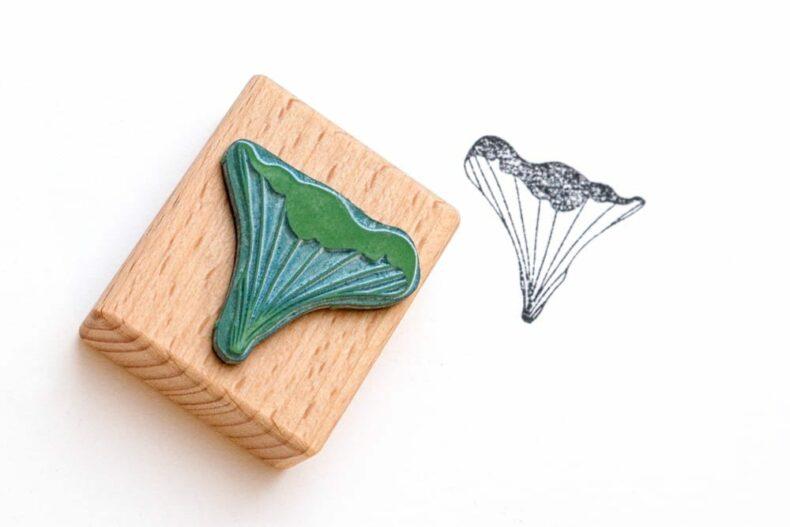 Mini Stempel Pfifferling gestempelt