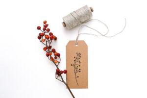 Stempel Weißdorn, Zweig mit kleinen Beeren – Grüße aus der Natur