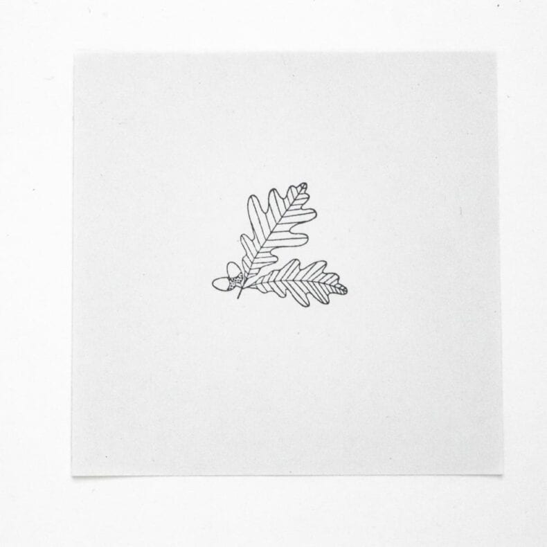 Stempel Eichenblatt