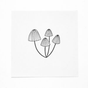 Gestempelte Pilze